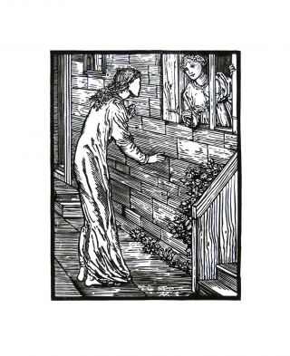 The Story of Cupid and Psyche: Psyche Comes to the Second Sister. PRINT. William Morris, Edward Burne-Jones.