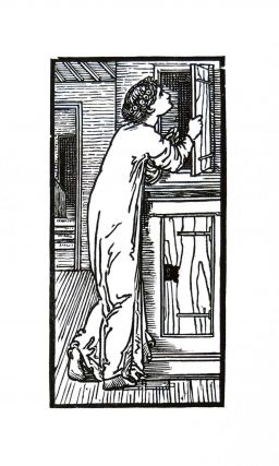 The Story of Cupid and Psyche: Psyche Looking into the Cupboard. PRINT. William Morris, Edward...