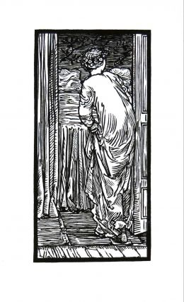 The Story of Cupid and Psyche: Psyche by the Bed. PRINT. William Morris, Edward Burne-Jones