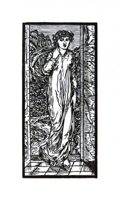 The Story of Cupid and Psyche: Psyche Entering the Court of the Palace. PRINT. William Morris, Edward Burne-Jones.