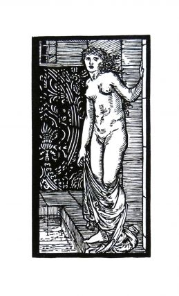 The Story of Cupid and Psyche: Psyche at the Bath. PRINT. William Morris, Edward Burne-Jones