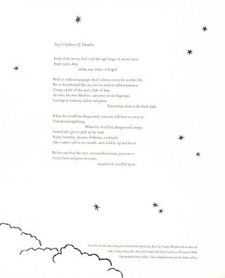 Step-Children Of Paradise [Broadside]. Charles Wright.