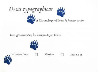 Ursus Typographicus: A Chronology of Bears