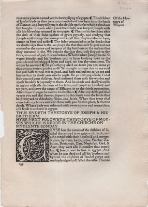 The Golden Legend [Disbound page]. Kelmscott Press, William Caxton.