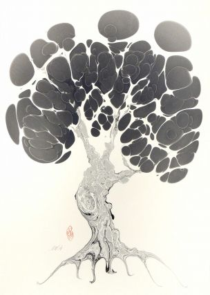 Grey Tree Original Marbled Graphic. Robert Wu