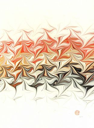 Escher Marbled Graphic. Robert Wu