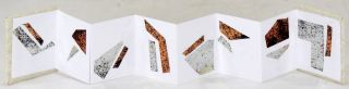 Miniature Metallic Accordion Book. Claire Jeanine Satin