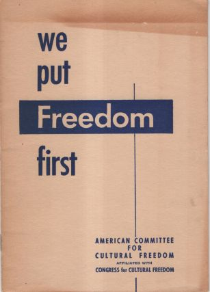 We Put Freedom First. Irving Brown