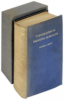 Typographical Printing-Surfaces: The Technology and Mechanism of Their Production. Lucien...