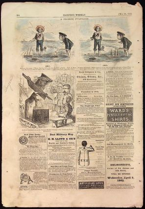 Harper's Weekly: May 10, 1862 Hand Colored Cartoons (1 page only