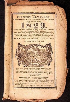 The Farmer's Almanack, Calculated on a New and Improved Plan, for the Year of our Lord 1829....