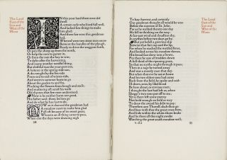 Eight leaves from The Earthly Paradise. Kelmscott Press, William Morris