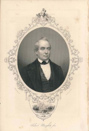 Engraved Portrait of Silas Wright Jr. (print