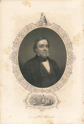 Engraved Portrait of General Lee [Lewis] Cass (print