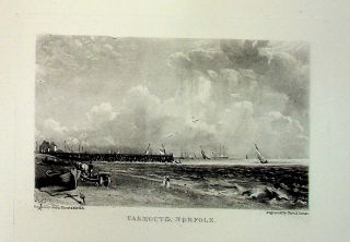 "Plate - ""Yarmouth"" from English Landscape Scenery. A Series of Forty Mezzotinto Engravings on..."
