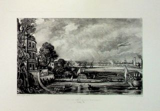 "Plate - ""Opening of Waterloo Bridge"" from English Landscape Scenery. A Series of Forty Mezzotinto..."