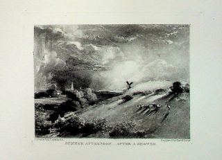 "Plate - ""Summer Afternoon - After a Shower"" from English Landscape Scenery. A Series of Forty..."