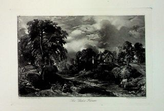 "Plate - ""The Glebe Farm"" from English Landscape Scenery. A Series of Forty Mezzotinto Engravings..."