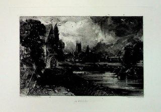 "Plate - ""A Mill"" from English Landscape Scenery. A Series of Forty Mezzotinto Engravings on Steel..."