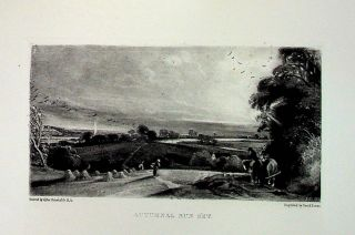 "Plate - ""Autumnal Sun Set"" from English Landscape Scenery. A Series of Forty Mezzotinto..."