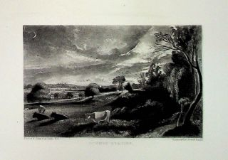 "Plate - ""Summer Evening"" from English Landscape Scenery. A Series of Forty Mezzotinto Engravings..."