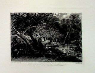 "Plate - ""Jacques and the Wounded Stag (Scene from ""As You Like It"")"" from English Landscape..."