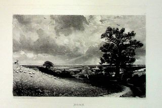"Plate - ""Noon"" from English Landscape Scenery. A Series of Forty Mezzotinto Engravings on Steel..."