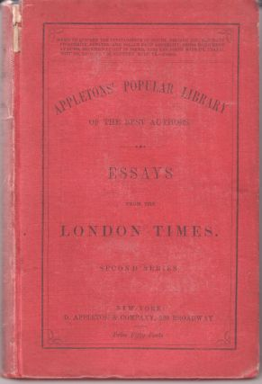 Essays from the London Times. Second Series. Unknown